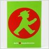 Postkarte Ampelmännchen, Geher im Kreis