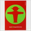 Postkarte Ampelmännchen, Steher im Kreis
