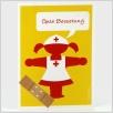 Postkarte Ampelmädchen Krankenschwester