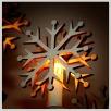 Schwibbogen Lichteraufsatz Schneeflocke