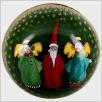 Weihnachtskugel - Engel mit Weihnachtsmann